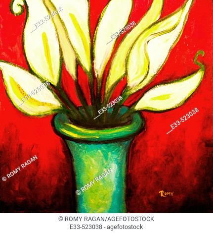 'Lily Stems' Acrylic on canvas. 2003. Private collection