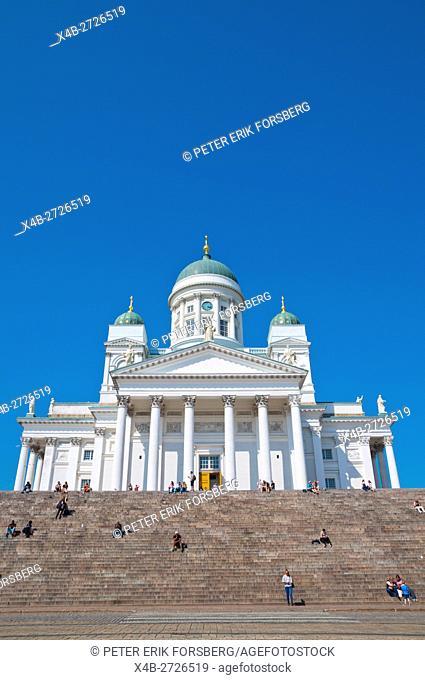 Helsingin tuomiokirkko, Helsinki Cathedral, Senaatintori, Helsinki, Finland