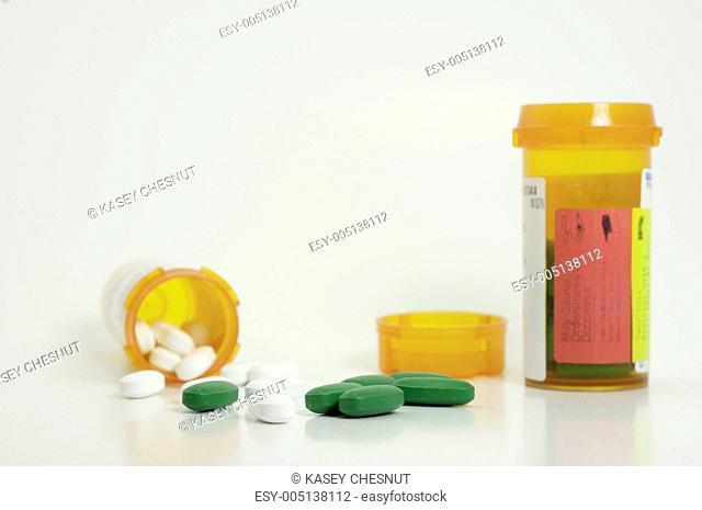 prescription pills spilled