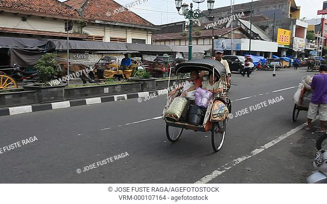 Indonesia,Jogjakarta City, Java,local trafic