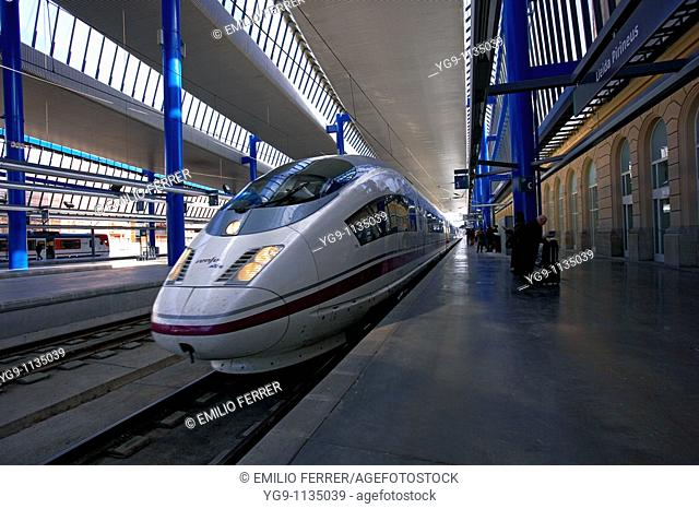 High Speed train AVE in LLeida station