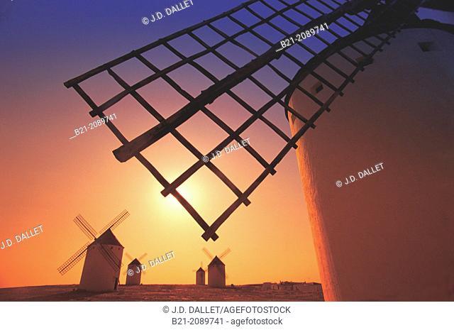 Windmills at Campo de Criptana, Ciudad Real province, Castilla-La Mancha, Spain