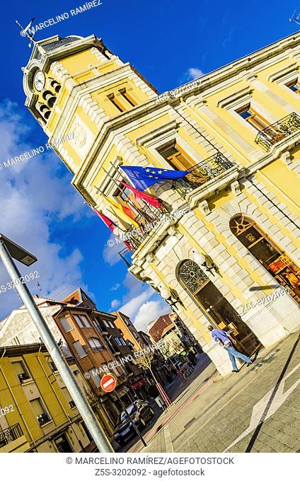 Town Hall. Plaza Mayor - Main Square. La Bañeza, Leon, Castilla y Leon, Spain, Europe