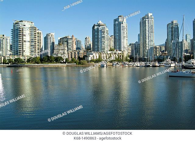 buildings on the north shore of False Creek, Vancouver, BC, Canada