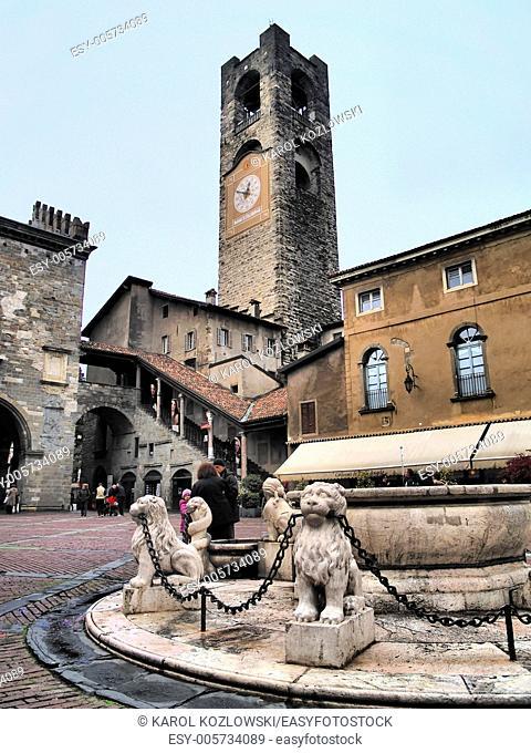 Bergamo - beautiful city in italian province of Lombardy