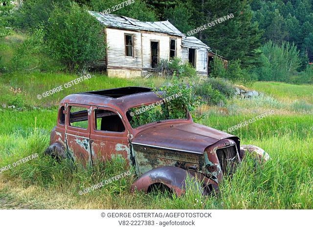 Abandoned car, Marysville, Montana