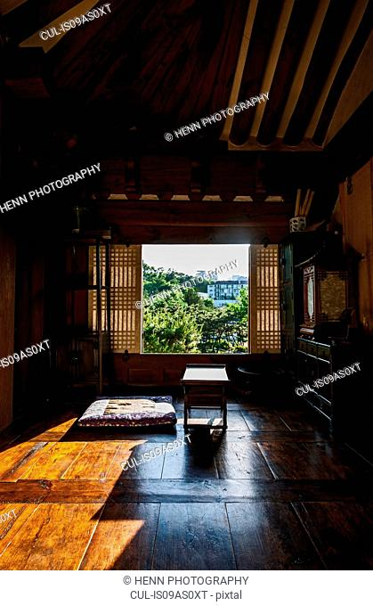 Traditional room at the Hangok open air museum in Seoul, South Korea