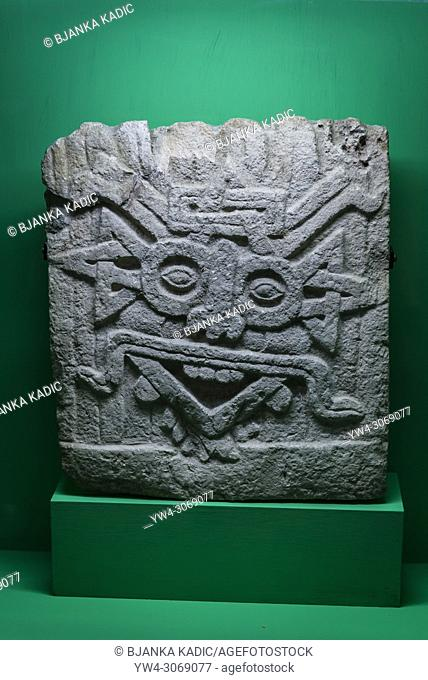 Pre-Hispanic Art Museum Rufino Tamayo, God of Sun, Classic Maya period, Campeche, 200-750 AD, Oaxaca, Mexico