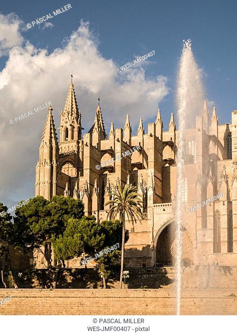 Spain, Balearic Islands, Mallorca, Palma de Mallorca, La Seu Cathedral
