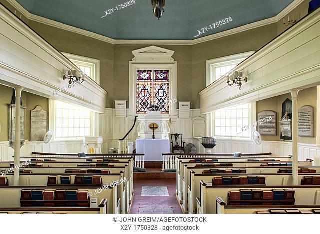 Gloria Dei, Historic Old Swedes' Church, founded in 1677, Philadelphia, Pennsylvania, USA  Oldest church in Pennsylvania