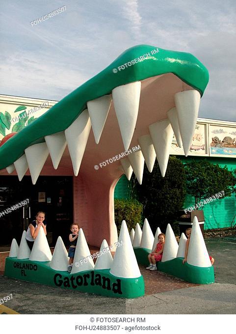 Orlando, FL, Florida, Gatorland, entrance