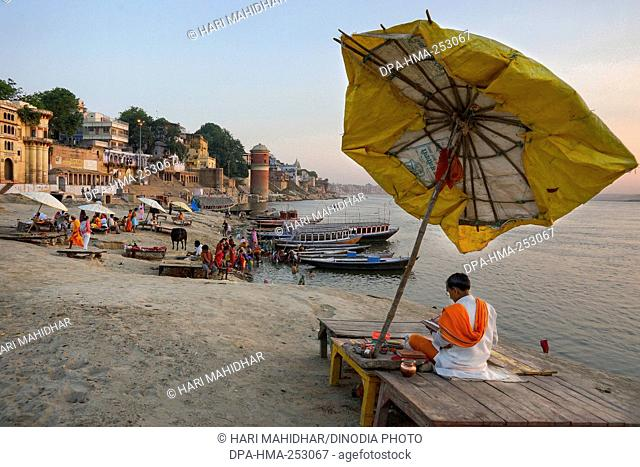 Rewa ghat, varanasi, uttar pradesh, india, asia