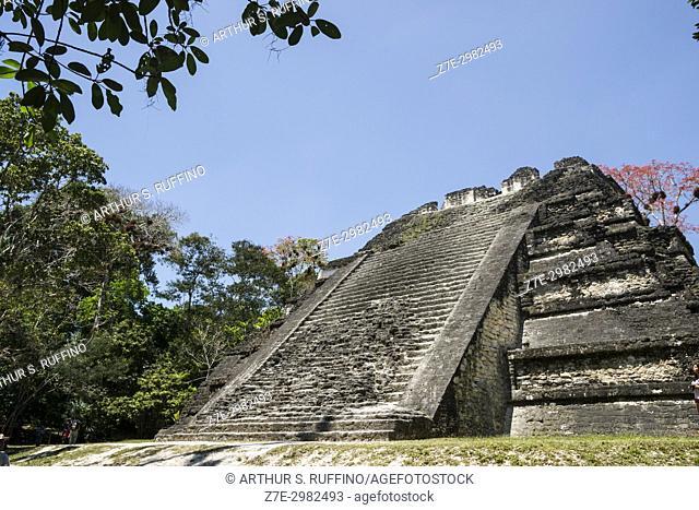 Talud Tablero Pyramid, Mundo Perdido (Lost World), Tikal, Guatemala, Central America