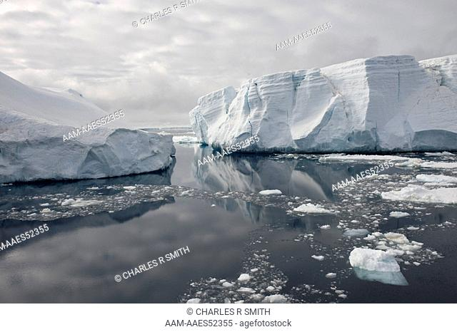 Tabular icebergs in the south Weddell Sea, Antarctica