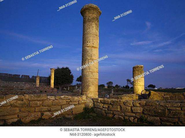 Ancient roman city of Pollentia, Alcudia, Majorca, Balearic Islands, Spain