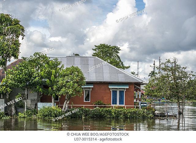 Waterfront of Masjid Agung Jami' Sultan Muhammad Tsafiuddin, Sambas, West Kalimantan, Indonesia