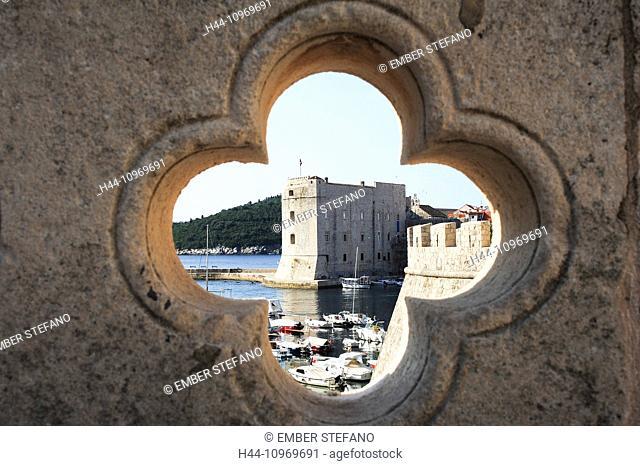 Castle, Adriatic, ancient, architecture, bright, city, cityscape, Croatia, Balkans, Europe, Dalmatia, Dubrovnik, Europe, famous, fort, fortress, harbour