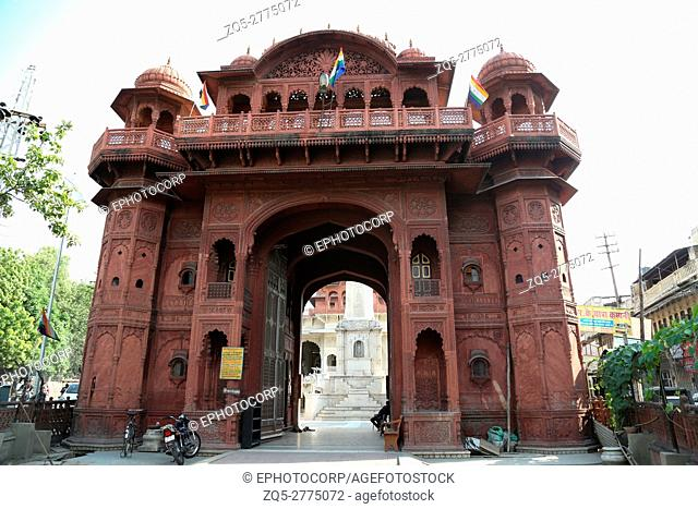 Red temple or Nasiyan Jain temple View. The entrance gate of the temple is made of red sand stone brought from Karauli. Located on Prithivi Raj marg near...