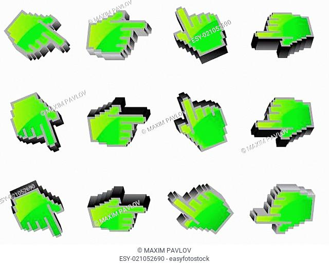 hand mouse symbol illustration