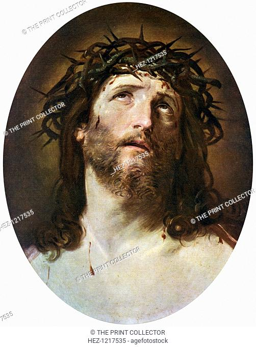'Head of Christ Crowned with Thorns', 1622-1623, (1912). A colour print from Famous Paintings, with an introduction by Gilbert Chesterton, Cassell and Company