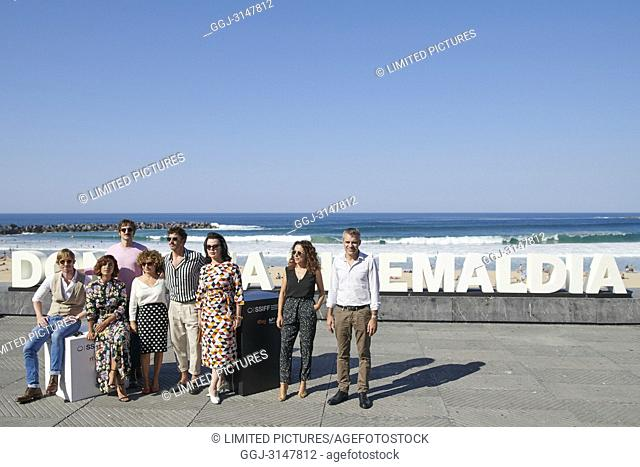 Inma Cuesta, Julian Villagran, Anna R. Costa, Paco Leon, Debi Mazar attended 'Arde Madrid' Photocall during the 66th San Sebastian International Film Festival...
