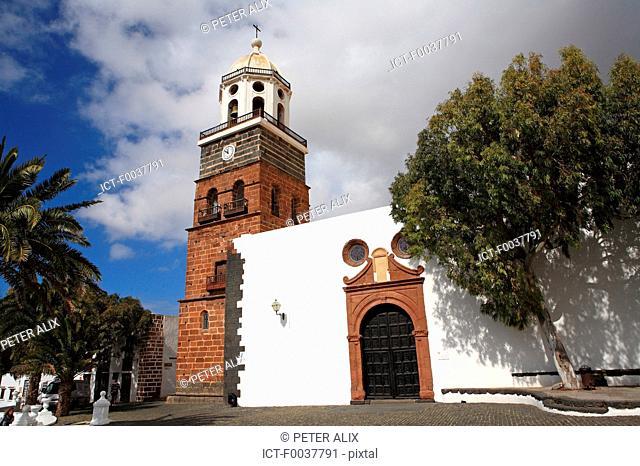 Spain, Canary islands, Lanzarote, Nuestra senora de guadalupe church