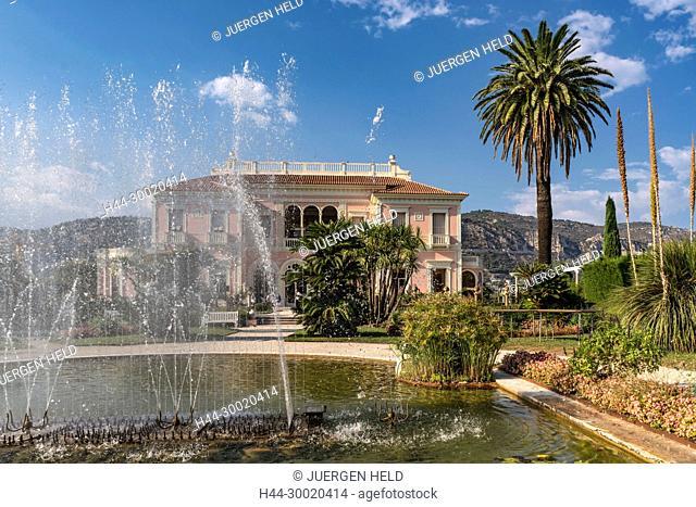 France, Provence-Alpes-Côte d'Azur, St. Jean Cap Ferrat, Villa Ephrussi de Rothschild