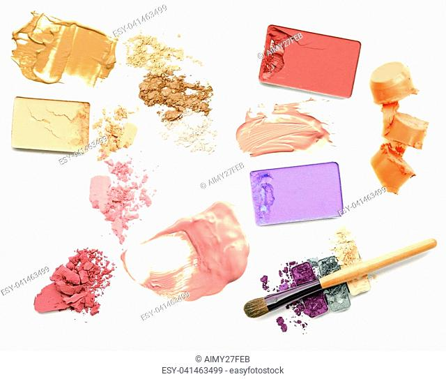 Make up cosmetic collection, powder and foundation