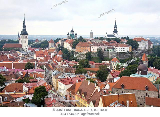 Estonia , Tallin City , The Upper and Lower Old Towns