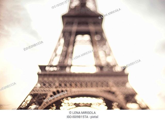Eiffel Tower, mid section, Paris, France