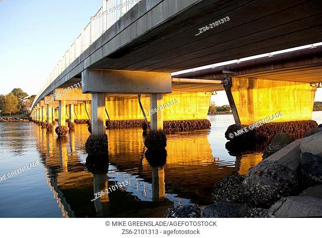Road bridge, Evans Head, NSW, Australia