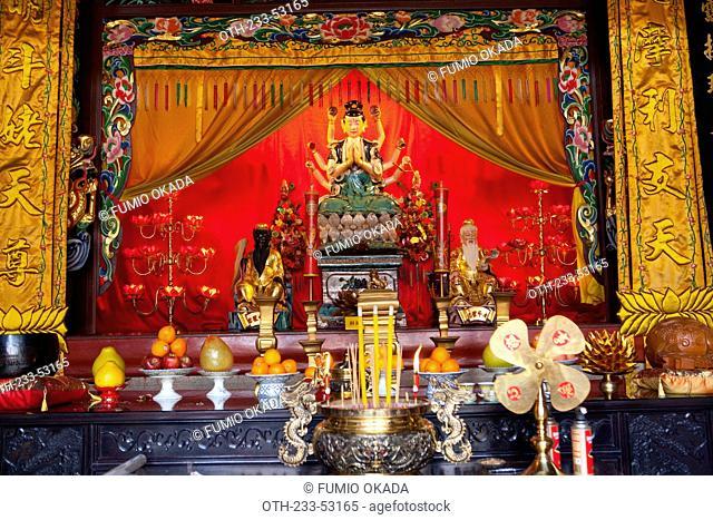 Shrine of Goddess guanyin at Ching Wan Koon, Tsing Shan Temple, New Territories, Hong Kong