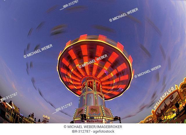 Chairoplane on fun fair