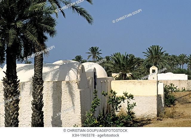 Menzel, traditional and specific house of Djerba island, Tunisia, North Africa