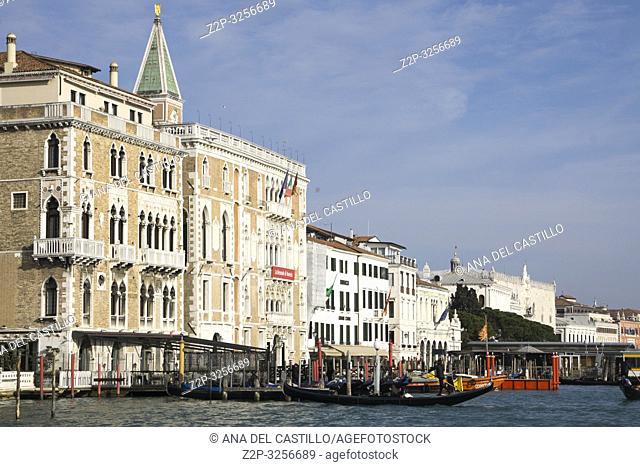Venice, Veneto, Italy: Bauer hotel at Grand Canal