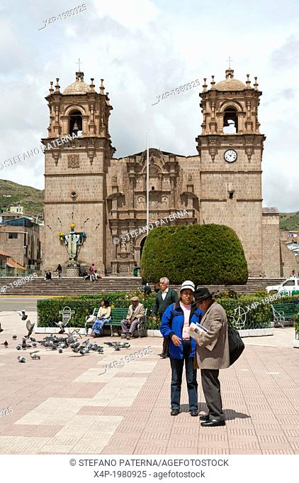 Plaza de Armas, Catedral, Puno, Peru
