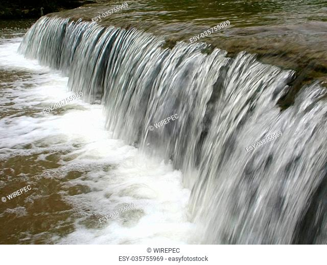 Beautiful cascade on Prairie Creek of the Des Plaines Conservation Area in Illinois