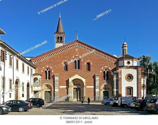 Italy, Milan, Church of St. Eustorgio