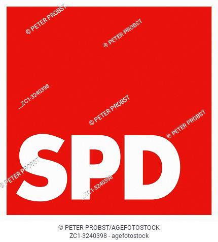 Logo of the German political party Sozialdemokratischen Partei Deutschlands SPD - Germany.