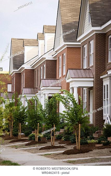 Rows Of New Townhomes