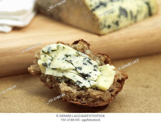Bleu des Causses, a French Cheese produced from Cow's Milk in Aveyron