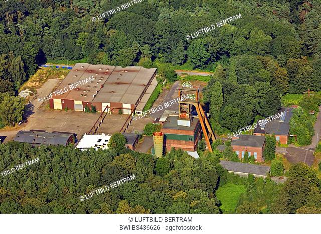 former coal mine Friedrich Heinrich, Schacht III, in Kamp-Lintfort aerial photo, 18.08.2016, Germany, North Rhine-Westphalia, Ruhr Area, Kamp-Lintfort