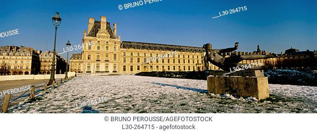 Tuileries Gardens in winter. Paris. France