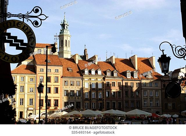 The Market Square of Warsaw Old Town. Warsaw. Poland