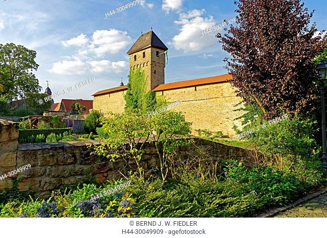 Town wall, in 1366 - in 1388, shimmer park, Kirchheimbolanden Germany