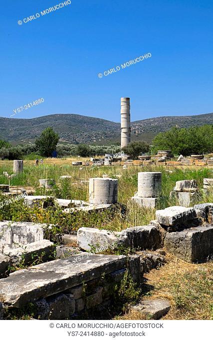 The Temple of Hera, Heraion of Samos, Samos island, North Aegean islands, Greece, Europe
