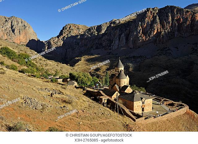 overview of Noravank Monastery and Amaghu River gorges, near Yeghegnadzor, Armenia, Eurasia
