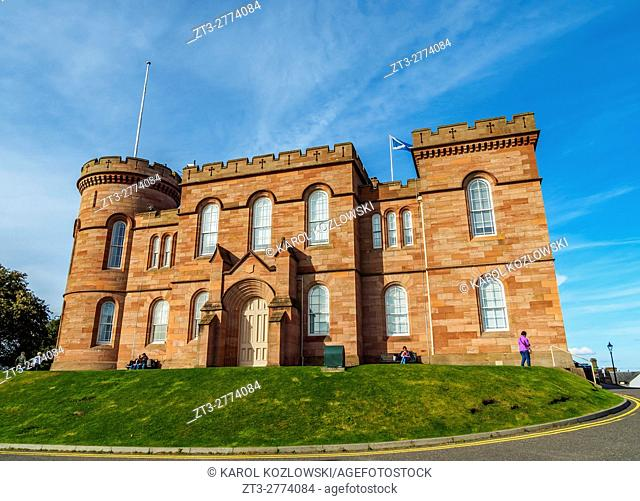 UK, Scotland, View of the Inverness Castle