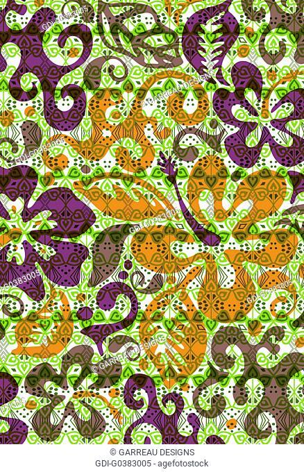 Hibiscus design over tropical background design