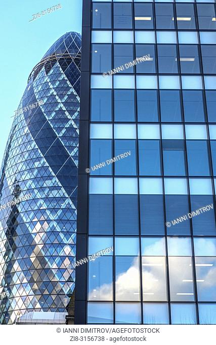 City of London- business district -office buildings,The famous Gherking Skyscraper